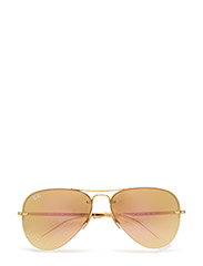 Aviator - GOLD-LIGHT BROWN MIRROR PINK