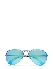 Aviator - GUNMETAL-LIGHT GREEN MIRROR BLUE