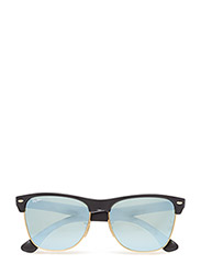 CLUBMASTER OVERSIZED - DEMI SHINY BLACK-LIGHT GREEN MIRROR SILVER