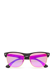 CLUBMASTER OVERSIZED - DEMI SHINY BLACK-GREEN MIRROR FUXIA