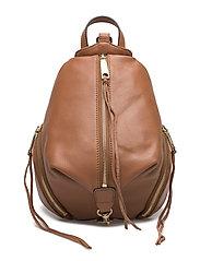 Medium Julian Backpack Pebbled Leather - ALMOND/LIGHT GOLD