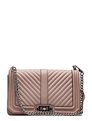 Chevron Quilted Love Crossbody - 301 VINTAGE PINK /  SILVER