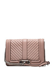 Chevron Quilted Small Love Crossbody - 301 VINTAGE PINK /  SILVER