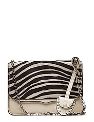 Mini Chain Crossbody  F - 101 ANT WHT MULTI /  SILVER