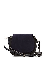 Crossbody Small Saddle - 001 BLACK /  ANTIQUE SILVER