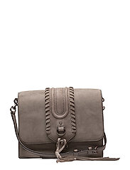 Paige Gusseted Crossbody - 020 GREY /  ANTIQUE SILVER