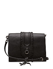 Paige Gusseted Crossbody - 001 BLACK /  ANTIQUE SILVER
