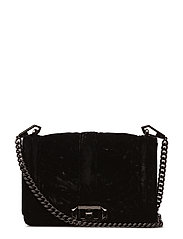 Chevron Quilted Small Love Crossbody - 001 BLACK /  GUNMETAL
