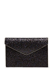 Glitter Leo Clutch - PURPLE MULTI / SILVER