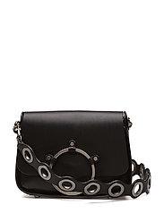 Ring Shoulder Bag - BLACK / ANTIQUE SILVER
