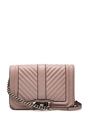 Chevron Quilted Small Love Crossbody - VINTAGE PINK / ANTIQUE SILVER