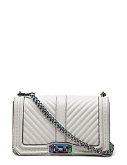 Chevron Quilted Love Crossbody - BIANCO / OIL SLICK