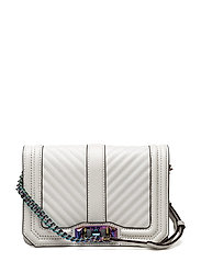 Chevron Quilted Small Love Crossbody - BIANCO / OIL SLICK