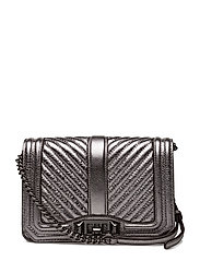 Chevron Quilted Small Love Crossbody - 013 ANTHRACITE / GUNMETAL