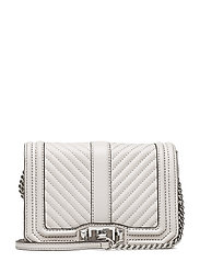 Chevron Quilted Small Love Crossbody - 269 PUTTY / PALLADIUM