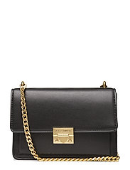 Christy Small Shoulder Bag - 001 BLACK / BRASS GOLD