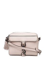 Flat Leather: Mab Camera Bag - SOFT BLUSH/GUNMETAL
