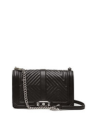 GEO QUILTED LOVE CROSSBODY - BLACK/SILVER