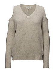 Paige Vneck Sweater  Sweater - 255 IVORY MULTI