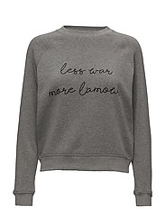 Crewneck Sweatshirt Less - MEDIUM HEATHER GREY