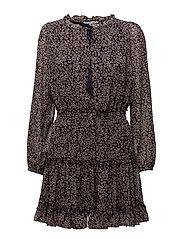 Rosemary Dress - PURPLE WINE LEOPARD