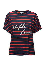 Akela Top - NAVY RED STRIPE