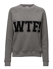 Wtf Classic Crew Sweatshi - MEDIUM HEATHER
