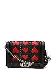 Heart Small Love Crossbody - BLK/RED / SILVER