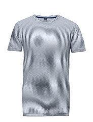 TShirt - WHITE/STRIPED BLUE