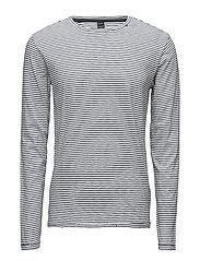 TShirt - WHITE/STRIPED BLACK
