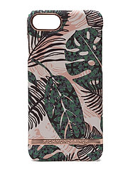 Tropical Leave - Rosé Gold details - GREEN/WHITE