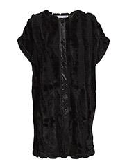 PEARL KNITFUR - Black
