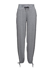LUNA PANTS - GREY MELANGE/BLACK