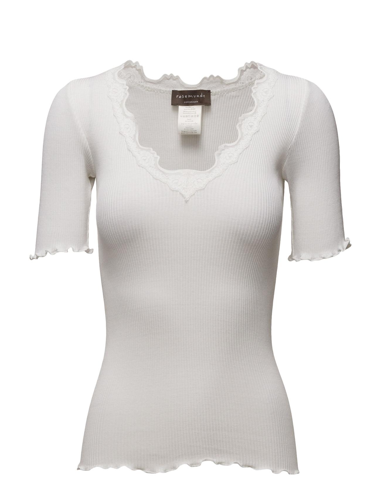Silk T-Shirt Regular Ss W/Vintage L Rosemunde Kortærmede til Damer i