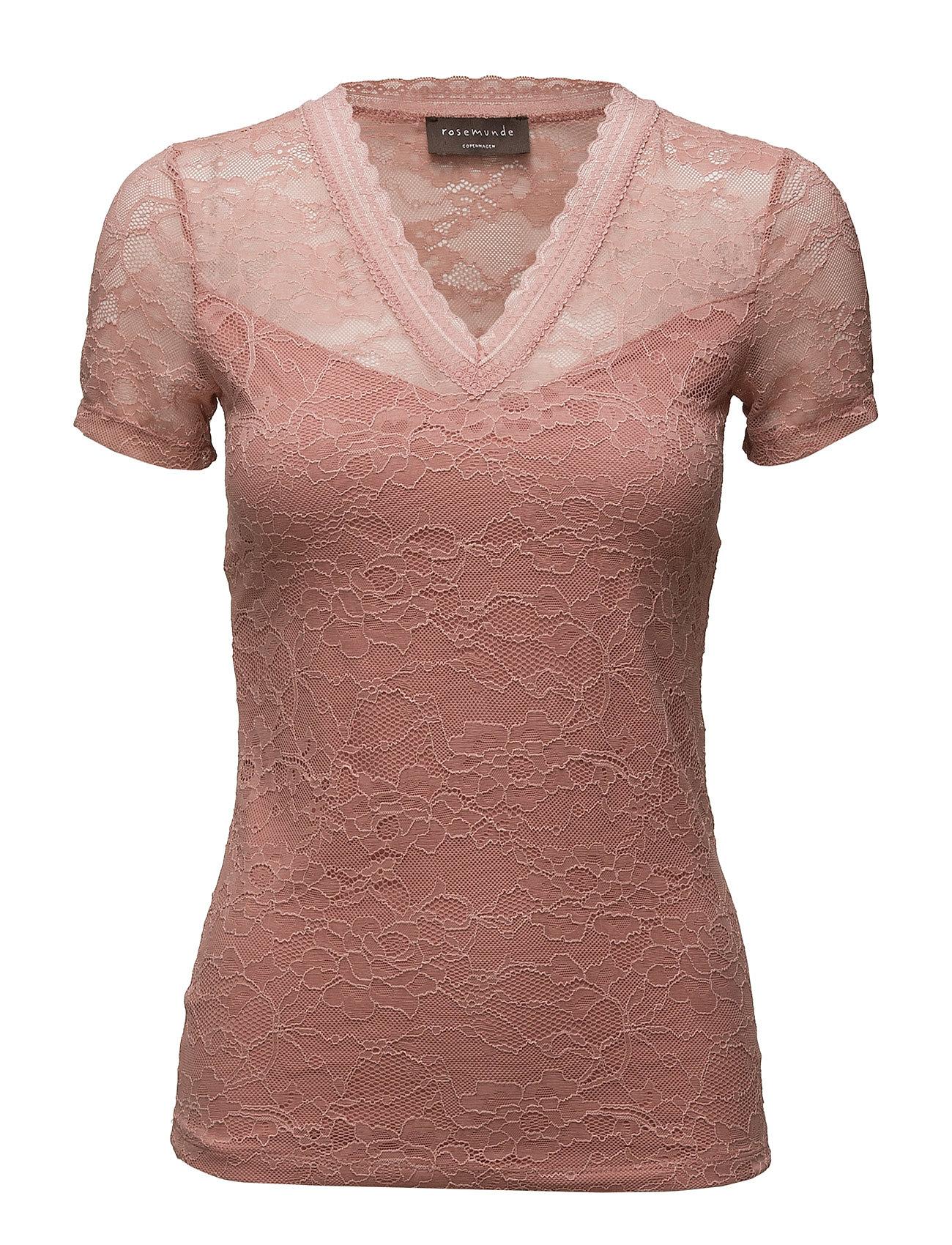 8fc2c607696 Shop T-Shirt Regular Ss W/Lace Rosemunde Kortærmede i til Kvinder i en  webshop