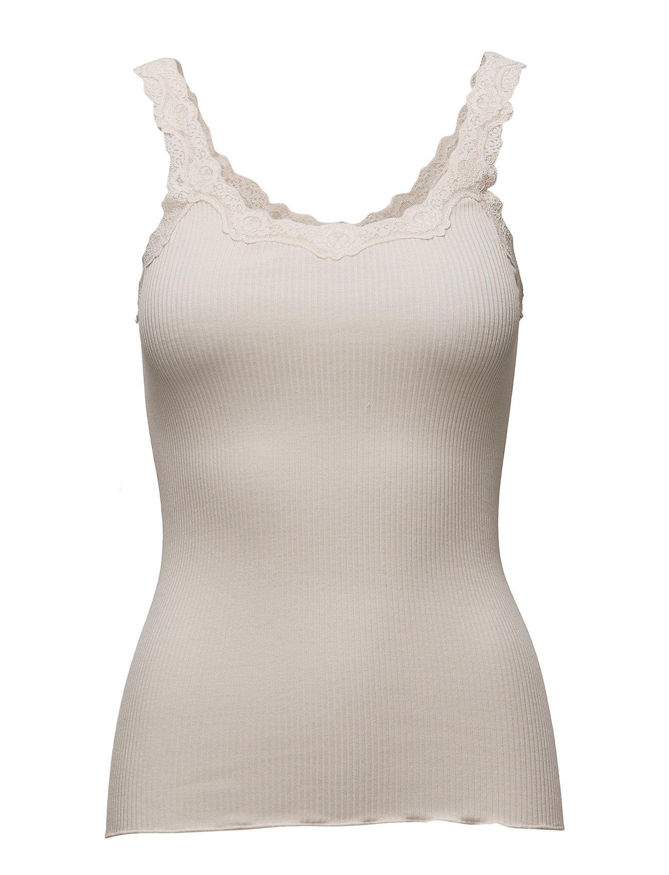 Silk Top Regular W/Rev Vintage Lace Rosemunde T-shirts & toppe til Kvinder i