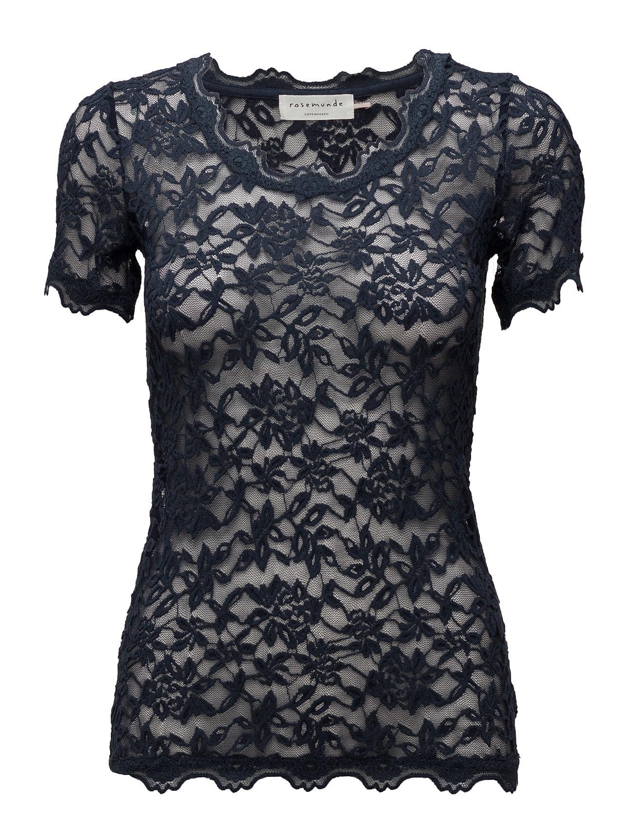 T-Shirt Ss Rosemunde Kortærmede til Damer i Mørkeblå