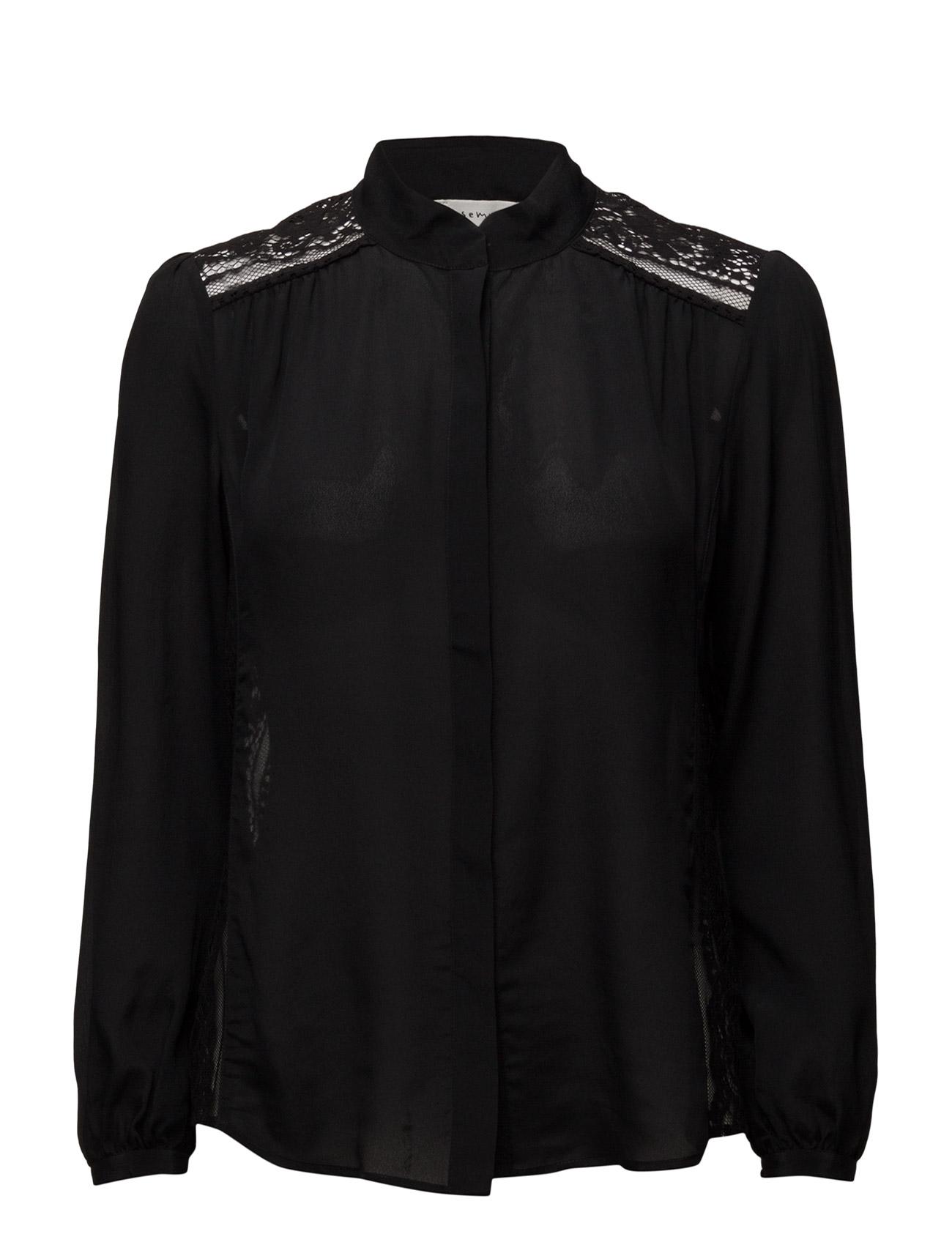 Shirt Ls Rosemunde Langærmede til Damer i Sort