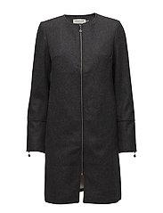 Coat ls - DARK GREY MELANGE