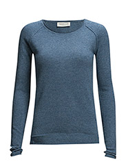 Pullover ls - Blue flint melange