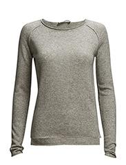 Pullover ls - Light grey melange