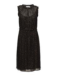 Dress - SHIMMER DOT BLACK PRINT