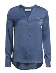 Shirt ls - Paris blue