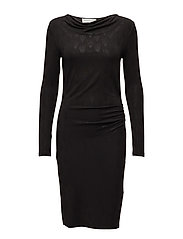 Dress ls - BLACK TEARDROP PRINT