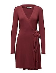Dress ls - MAROON
