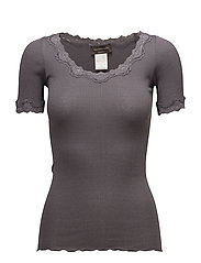 Rosemunde - Silk T-Shirt Regular Ss W/ Rev,Vint