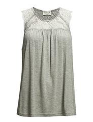 Top - Silver grey melange