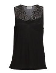 Top regular w/ lace - Black