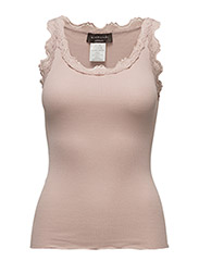 Rosemunde - Silk Top Regular W/Vintage Lace