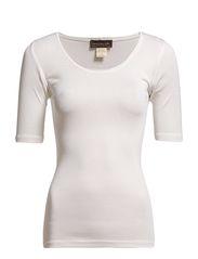 Silk t-shirt regular ss w/roll edge - New white